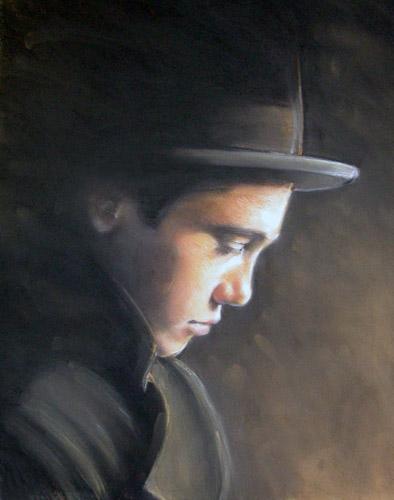 Joël (Tronie met hoed)