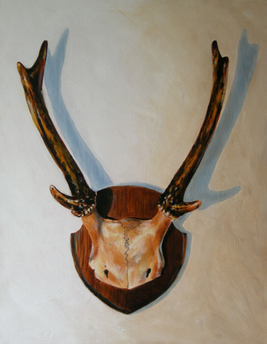 Roe Deer antlers on shield (2011)